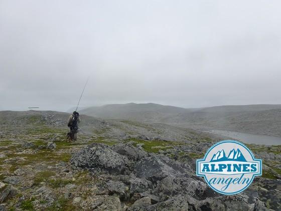 Auf dem Weg zum Saiblingsfischen in der Finnmark