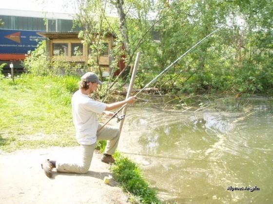 Frank mit Großfisch an der Leine