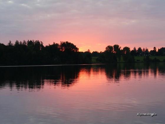 Sonnenuntergang am Riegsee
