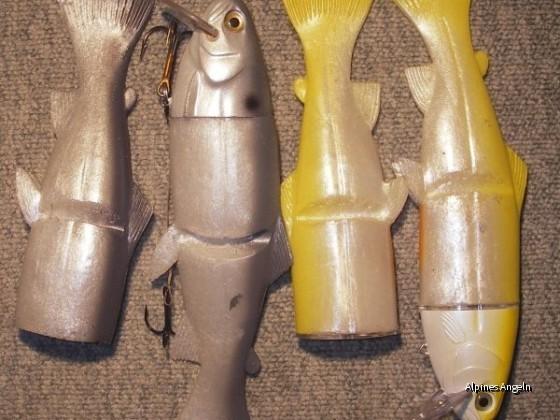 Realbait 23cm Lemonshad, Blueshad mit jeweils Ersatzschwanz