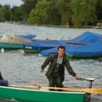 Abdul beim Aufbrechen am Wörthseevereinshafen