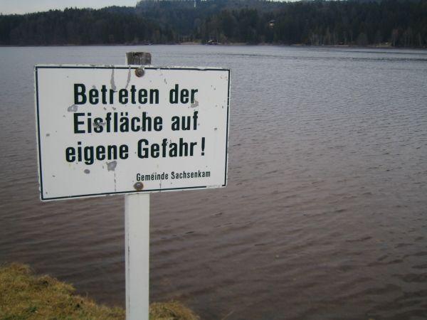 Nicht aufs Eis gehen!!!