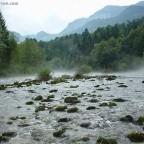Morgendunst an der Sava