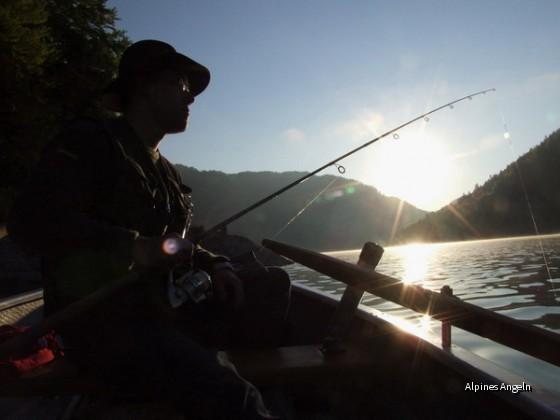 Gegenlichtaufnahme am Sylvensteinsee