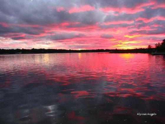 Sonnenuntergang am Frenchriver