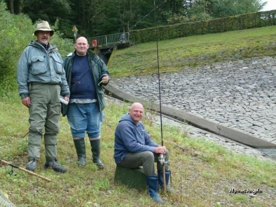 Drei Mann ohne Fisch