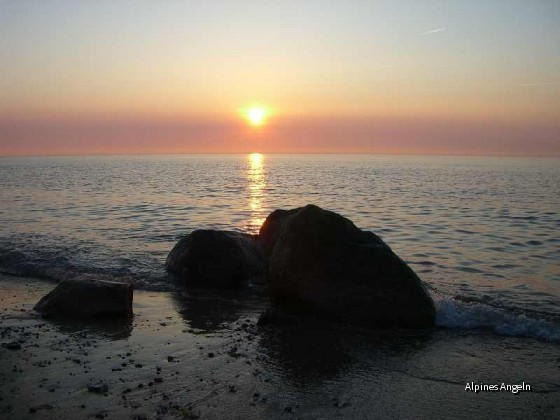 Sonnenuntergang in Kreptitz