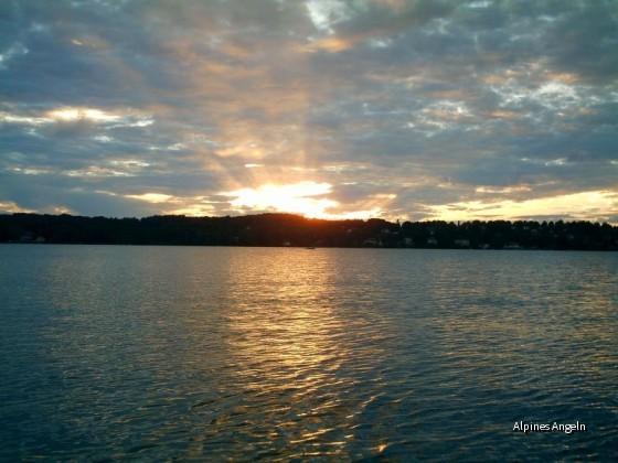 Sonnenuntergang am STA-See