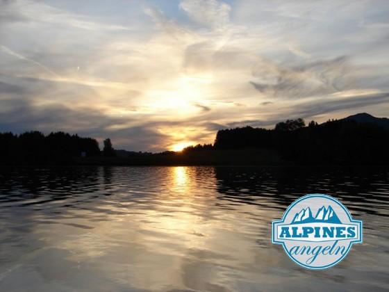 Sonnenaufgang am Tiefental (Forggensee)