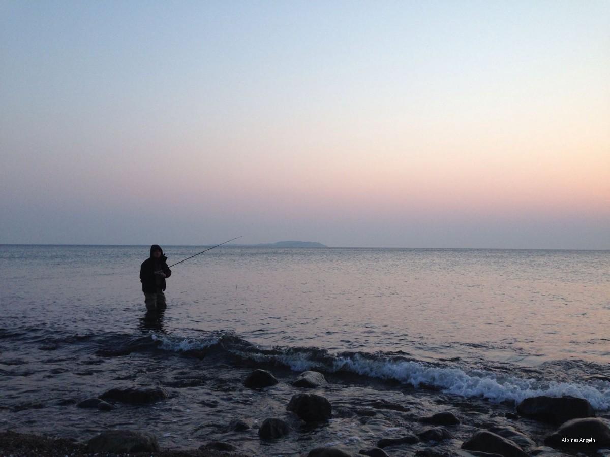 Dranske Marc beim Meerforellen blinkern